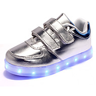 Unisex Kid Boy Girl Upgraded Patent Leather LED Light   Sport Shoes Flashing Sneakers USB Charge