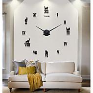Zegar ścienny - Metal/Styropian - Modern / Contemporary/Przypadkowy/Biuro / Biznes - Zaokrąglanie