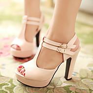 Scarpe Donna - Sandali / Scarpe col tacco - Tempo libero / Formale / Casual - Tacchi / Spuntate / Plateau - Quadrato - Finta pelle -Nero