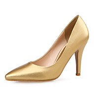 Women's Shoes Microfibre Stiletto Heel Heels / Pointed Toe Heels Wedding /Dress Black / Silver / Gold / Champagne