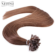 """Neitsi 20""""  1g/s 50g Keratin Fusion U Nail Tip Straight Ombre Human Hair Extensions 6#"""