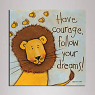 Mini Size Cartoon lion Painting Canvas Print One Panel Ready to Hang