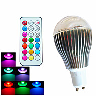 1 pcs SchöneColors GU10 9W 3High Power LED 500LM Dimmable/Remote-Controlled/Decorative LED RGB Globe Bulbs AC100-240V