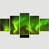 Paisaje / Moderno Impresión de la lona Cinco Paneles Listo para colgar , Horizontal