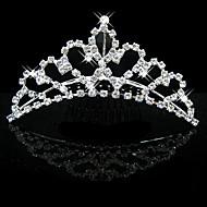 왕관 여성 웨딩 / 특별한날 라인석 / 크리스탈 / 합금 투구 웨딩 / 특별한날 1개