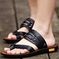 Men's Shoes Outdoor / Athletic / Casual Nappa Leather Sandals Black / Brown