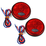 2 X Carchet Car Red Round Brake Stop Tail Rear Light Lamp Bulb High Power