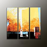 handbemalte abstrakte moderne Ölgemälde, Leinwand drei Platten