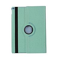 360 graders krokodille mønster pu læder flip cover taske til ipad luft 2 (assorterede farver)