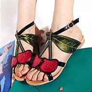 Women's Shoes Heel Peep Toe Sandals Outdoor / Dress / Casual Black / Gold/319
