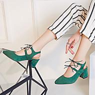 Women's Shoes Heel Heels / Pointed Toe Sandals / Heels Outdoor / Dress / Casual Black / Green / Red