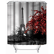 "Modern Eiffel Tower Shower Curtains W71""×L71"""
