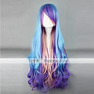 parrucca lolita ispirato blu e viola e rosa punk colore misto