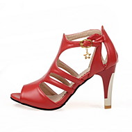 Women's Shoes Chunky Heel Heels/Peep Toe/Open Toe Sandals Party & Evening/Dress Black/Pink/Red/White