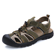 Men's Shoes Outdoor / Casual Nappa Leather / Fabric Sandals Brown / Yellow / Khaki