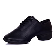 Non Customizable Women's Dance Shoes Latin / Modern Leatherette Low Heel Black / Red