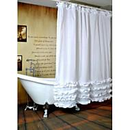 "Modern Ruffled Shower Curtains W71""×L71"""