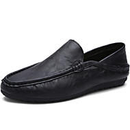 Men's Shoes Office / Casual Style Leather Boat Shoes Men Fashion Driving Shoes Black / Blue / White