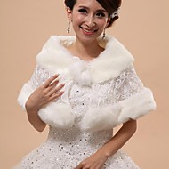 Wedding  Wraps / Fur Vests / Hoods & Ponchos Capelets Sleeveless Faux Fur White Wedding / Party/Evening Off-the-shoulder / Rolled collar