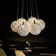 3W מנורות תלויות ,  מודרני / חדיש Electroplated מאפיין for LED / סגנון קטן מתכתחדר שינה / חדר אוכל / מטבח / חדר עבודה / משרד / חדר ילדים