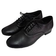 Pánské - Taneční boty - Latina / Moderní / Salsa / Standardní obuv - Kůže - Masivní podpatek - Černá