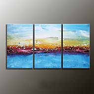 handgemalte Landschaft modernes Ölgemälde, Leinwand drei Platten
