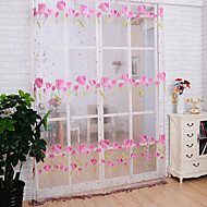 One Panel Country Living Room Polyester Sheer Curtains Shades