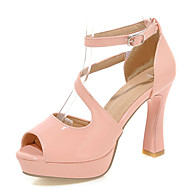 Women's Shoes Spool Heels/Platform/Sling back/Open Toe Sandals Party & Evening/Dress Black/Pink/White