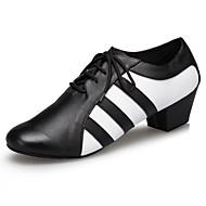 Customizable Men's Ballroom Latin Dance Shoes Jazz / Modern / Swing Shoes / Salsa / Samba  Low Heel Black White