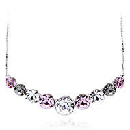 OUXI Fashion 18k Gold Plated Beads Necklace With Austrian Crystal 10005-1