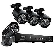 Zosi @ 4pcs 8ch DVR 960H HDMI 800tvl sistema de cámaras de seguridad en el hogar al aire libre de circuito cerrado de televisión