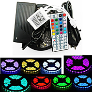 ZDM™  Waterproof 5M 300X5050 SMD RGB LED Strip Light and 44Key Remote Controller and 6A EU Power Supply (AC110-240V)