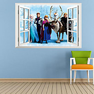 DIY 3D Cartoon Queen Elsa Window Children Boys Mural Decorations Wall Stickers For Kids Girls Bedroom Home Decal Poster