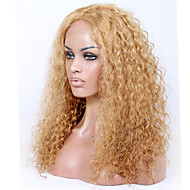sin cola o asequibles frente del cordón pelucas llenas remy virginal playa desordenado pelucas indias 8a rizado del pelo humano para las
