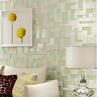 PALUTON Geometric Wallpaper Contemporary Wall Covering,Non-woven Paper Embossed  Modern Minimalist Mosaics