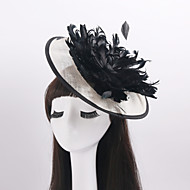 Women's / Flower Girl's Feather / Flax Headpiece-Wedding / Special Occasion / Casual Fascinators 1 Piece