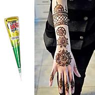 natürliche pflanzliche Henna Kegel Körperkunst mehandi Tinte jagua temporäre Tattoo-Set (braun)