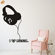 Hudba / Módní Samolepky na zeď Samolepky na stěnu,PVC S:40*57cm/ M:54*77cm/ L:70*100cm
