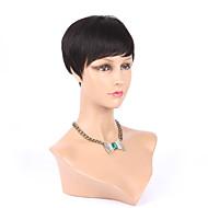 New Pixie Cut Cheap Human Hair Wig Rihanna Black Short Cut Wigs For Black Women African American Celebrity Wigs Hot Sale