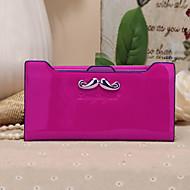 Lovely Style Beard Knot Metal Buckle Long Horizontal Thin Multi-Card Bit Card Package Lady Wallet