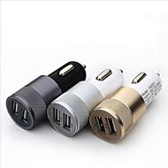 2.1a 1.0a aluminium 2 usb-poorten Universele USB auto-oplader voor de telefoon 5 6 6 plus voor iPad 2 3 4 5 voor