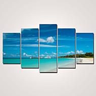 Stretched Canvas Print Modern Five Panels Horizontal Print Wall Decor For Home Decoration