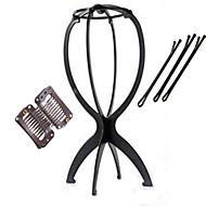 Speciální skládací stabilní paruka displej stojan 1 kus s držákem 5 sponky do vlasů