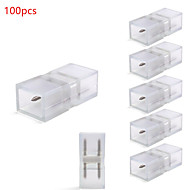 100pcs HRY® Connector for LED 100-240V Strip Lights 5050 LED Strip Accessories  Joint Pin for LED Single color Strips