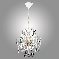 SL® Iron Painting Chandelier with Clear Crystal Modern Lighting Lamp