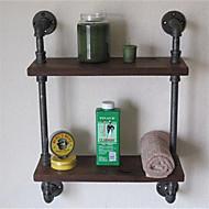 Vintage Wrought Iron Pipe Double Tier Metal Bathroom Shelf Para Banheiro Bath Shelves Bathroom Accessories 1pc Z52