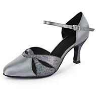 Dansesko(Sort Blå Lilla Grå Mandel) -Kan tilpasses-Personligt tilpassede hæle-Damer-Latin Moderne