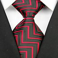 עניבה-פסים(שחור / אדום,פוליאסטר)