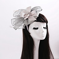 Women's / Flower Girl's Satin / Rhinestone / Flax Headpiece-Wedding / Special Occasion / Casual Fascinators 1 Piece
