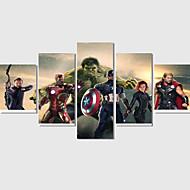 Abstraktní / Komiks / Moderní Na plátně Pět panelů Připraveno k Pověste,Obdélníkový